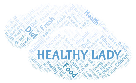 Healthy Lady word cloud. Wordcloud made with text only.