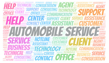 Automobile Service word cloud. Wordcloud made with text only.