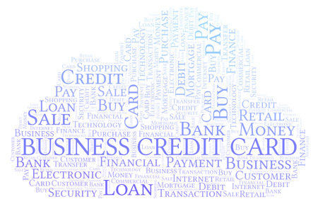 Business Credit Card word cloud. Wordcloud made with text only.
