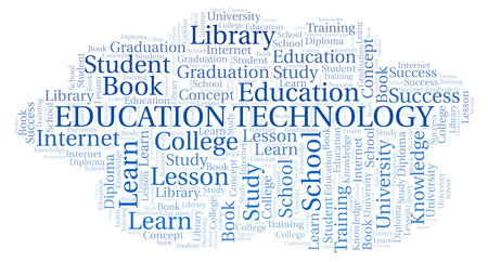 Education Technology word cloud, wordcloud made with text only.