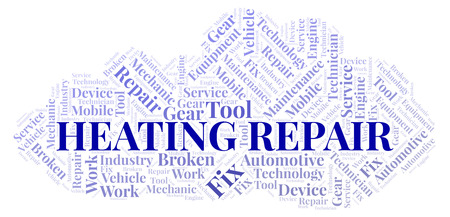 Heating Repair word cloud. Wordcloud made with text only.