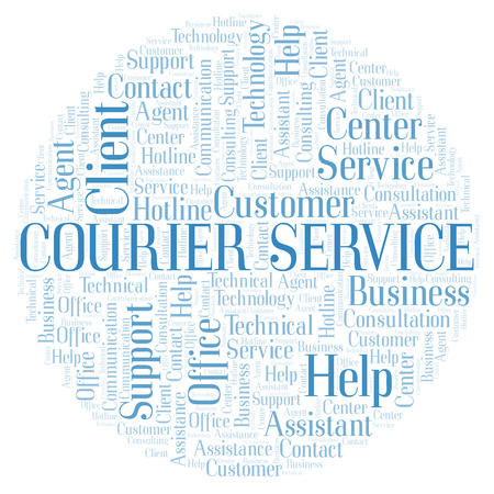 Courier Service word cloud. Wordcloud made with text only.