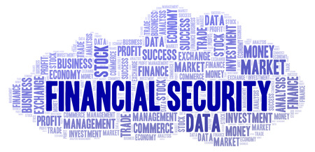 Financial Security word cloud, wordcloud made with text only.