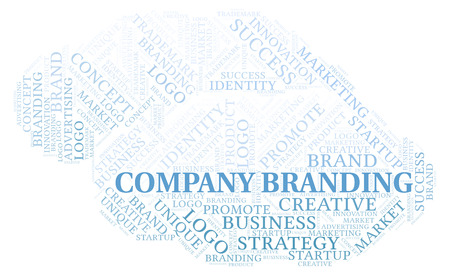 Company Branding word cloud. Wordcloud made with text only.