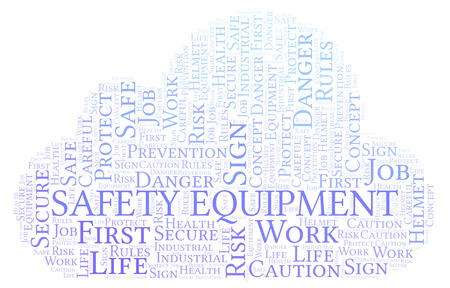 Safety Equipment word cloud. Word cloud made with text only.