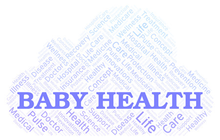 Baby Health word cloud. Wordcloud made with text only.