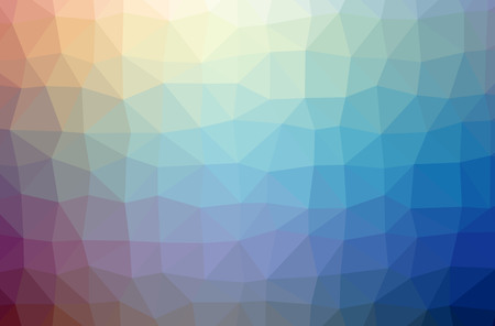 Illustration of abstract Blue And Purple horizontal low poly background. Beautiful polygon design pattern. Useful for your needs. 스톡 콘텐츠