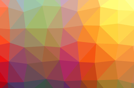 Illustration of abstract Blue, Orange, Pink, Purple, Red, Yellow horizontal low poly background. Beautiful polygon design pattern. Useful for your needs.