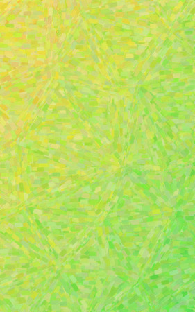 Yellow and green Impressionist Oil Painting  vertical background illustration Banque d'images