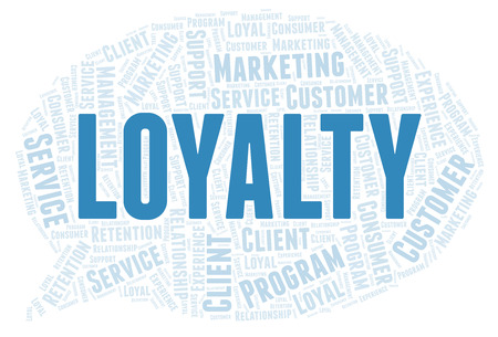 Loyalty word cloud. Wordcloud made with text only.