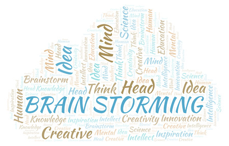 Brain Storming word cloud. Wordcloud made with text only.