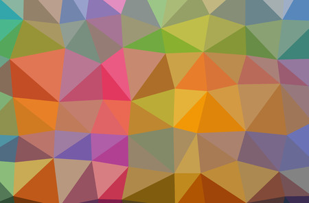 Illustration of abstract Orange, Pink, Red, Yellow horizontal low poly background. Beautiful polygon design pattern. Useful for your needs. 스톡 콘텐츠