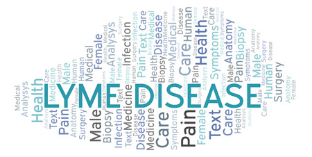 Lyme Disease word cloud. Wordcloud made with text only.