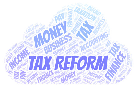 Tax Reform word cloud. Wordcloud made with text only.