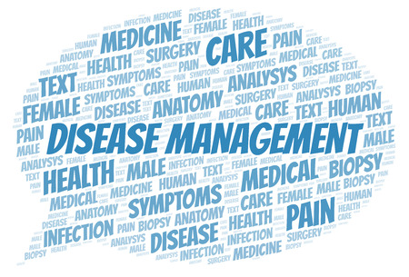 Disease Management word cloud. Wordcloud made with text only.