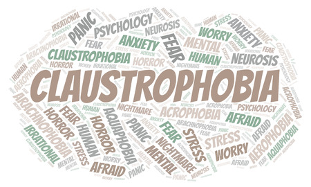 Claustrophobia word cloud. Wordcloud made with text only.