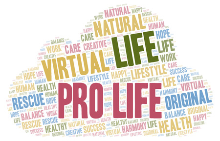 Pro Life word cloud. Wordcloud made with text only.