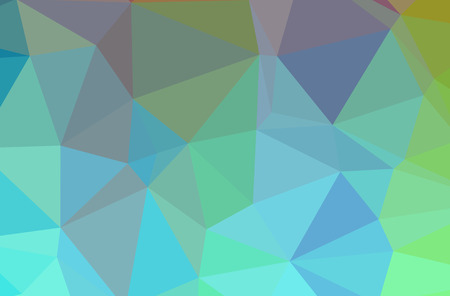 Illustration of abstract Blue, Green And Yellow horizontal low poly background. Beautiful polygon design pattern. Useful for your needs.