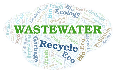 Wastewater word cloud. Wordcloud made with text only.