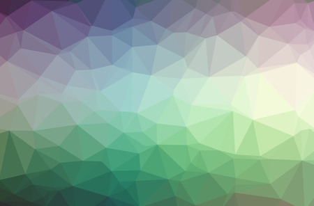 Illustration of abstract Blue, Green, Purple horizontal low poly background. Beautiful polygon design pattern. Useful for your needs.