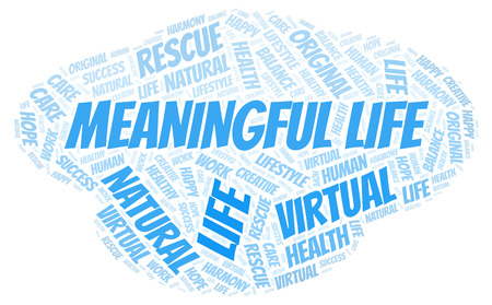 Meaningful Life word cloud. Wordcloud made with text only.