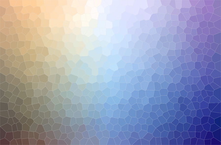 Abstract illustration of blue, yellow and green Small Hexagon background. Stockfoto