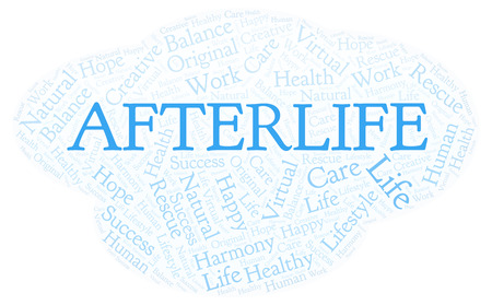 Afterlife word cloud. Wordcloud made with text only.