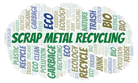Scrap Metal Recycling word cloud. Wordcloud made with text only.