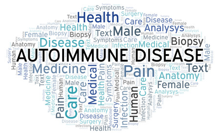 Autoimmune Disease word cloud. Wordcloud made with text only.
