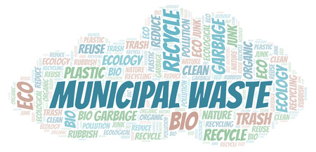 Municipal Waste word cloud. Wordcloud made with text only.