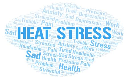 Heat Stress word cloud. Wordcloud made with text only.