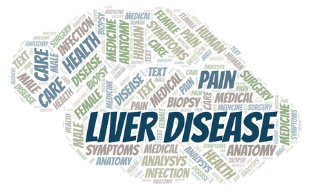 Liver Disease word cloud. Wordcloud made with text only.
