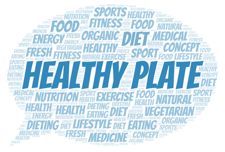 Healthy Plate word cloud. Wordcloud made with text only.