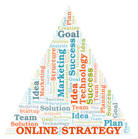 Online Strategy word cloud. Wordcloud made with text only.