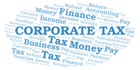 Corporate Tax word cloud. Wordcloud made with text only.