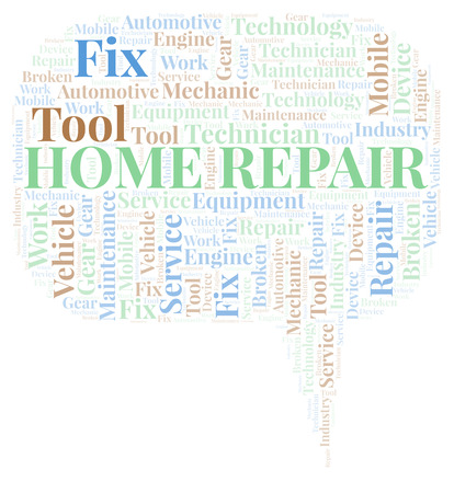 Home Repair word cloud. Wordcloud made with text only.