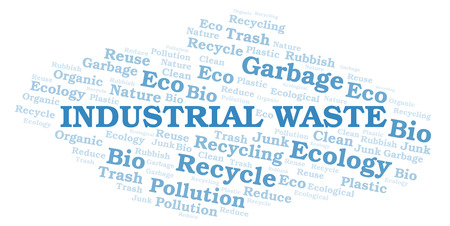 Industrial Waste word cloud. Wordcloud made with text only.