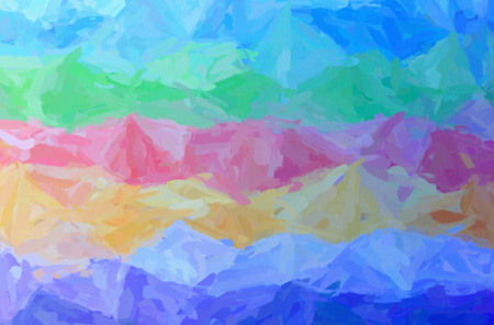 Abstract illustration of blue, green, pink, red Impressionist Impasto background. Stock Photo