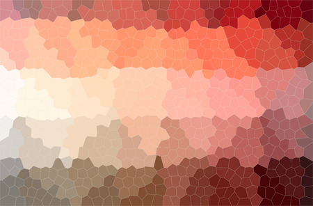 Abstract illustration of red Small Hexagon background. Stock Photo