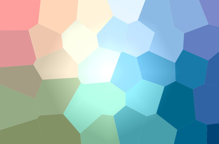Abstract illustration of blue, red, yellow and green Giant Hexagon background. Stock Photo