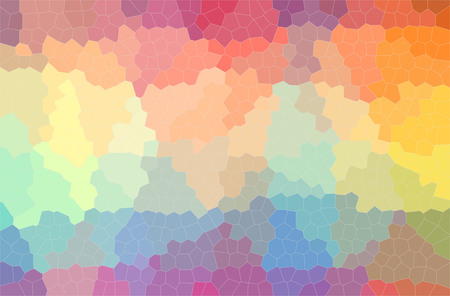 Abstract illustration of blue, orange, pink, purple, red, yellow Small Hexagon background.