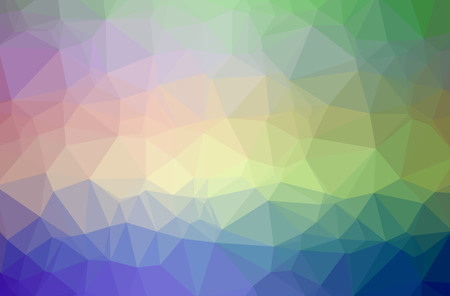 Illustration of abstract Blue, Green, Orange, Red, Yellow horizontal low poly background. Beautiful polygon design pattern. Useful for your needs.