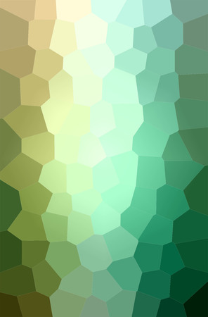 Abstract illustration of green, yellow Big Hexagon background.