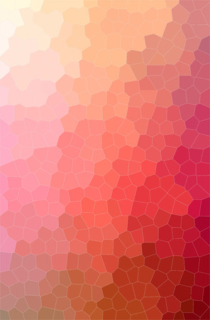 Abstract illustration of red Little Hexagon background.