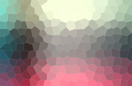 Abstract illustration of red, yellow, gray and blue middle size hexagon background