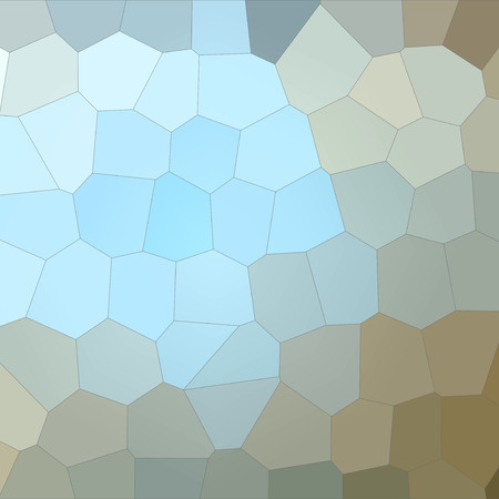 Illustration of Square blue, grey and brown Big Hexagon background Stock Photo