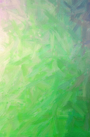 Abstract illustration of green Bristle Brush Oil Paint background.