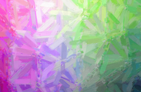 Abstract illustration of green, purple Oil Paint with big brush background.