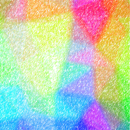 Illustration of abstract Orange, Green, Yellow And Red Low Coverage Color Pencil Square background