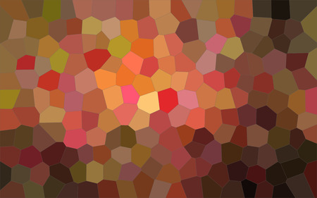 Illustration of brown and red bright Middle size hexagon background Stock Photo